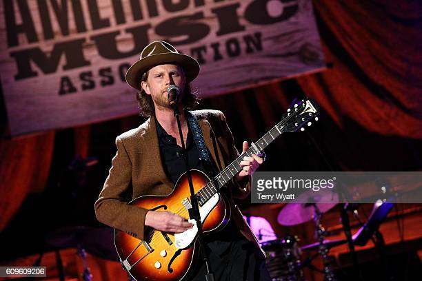 Wesley Schultz of The Lumineers performs onstage at the Americana Honors Awards 2016 at Ryman Auditorium on September 21 2016 in Nashville Tennessee...