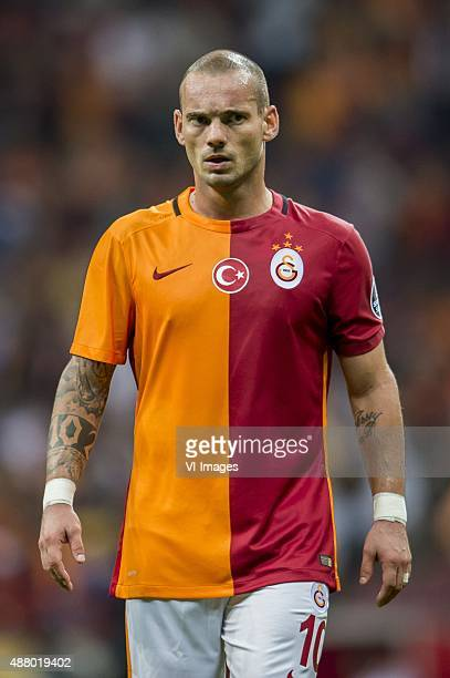 Wesley Sneijder of Galatasaray during the Turkish Super Lig match between Galatasaray and Mersin Idmanyurdu on September 12 2015 at the Turk Telekom...