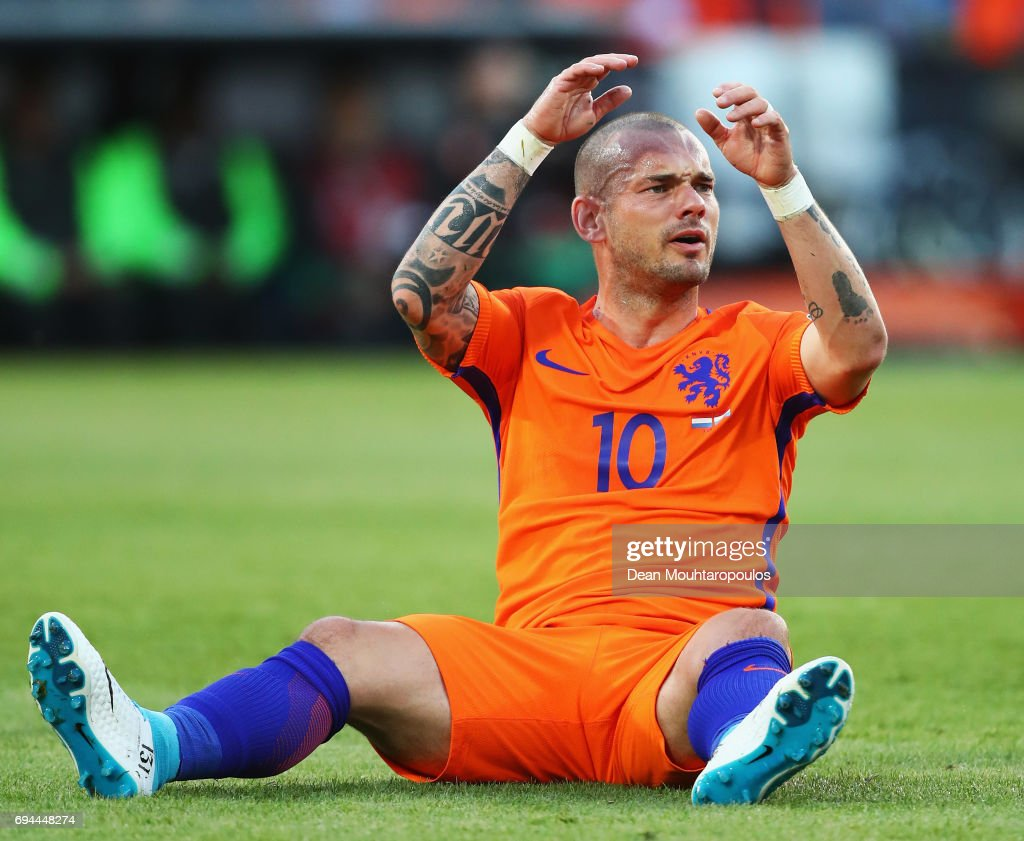 Wesley Sneijder of the Dutch national football team leaves the