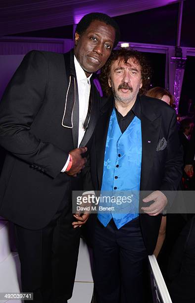 Wesley Snipes and Monty Shadow attend 'The Expendables 3' private dinner and party at Gotha Night Club at Palm Beach on May 18 2014 in Cannes France