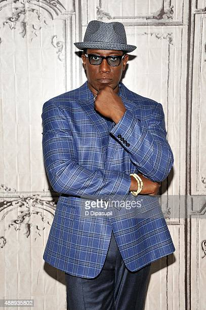 Wesley Snipes attends AOL BUILD Speaker Series 'The Player' at AOL Studios In New York on September 18 2015 in New York City