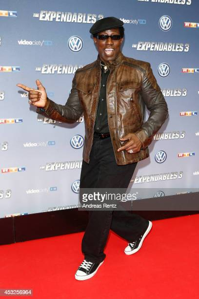 Wesley Snipes attends the German premiere of the film 'The Expendables 3' at Residenz Kino on August 6 2014 in Cologne Germany