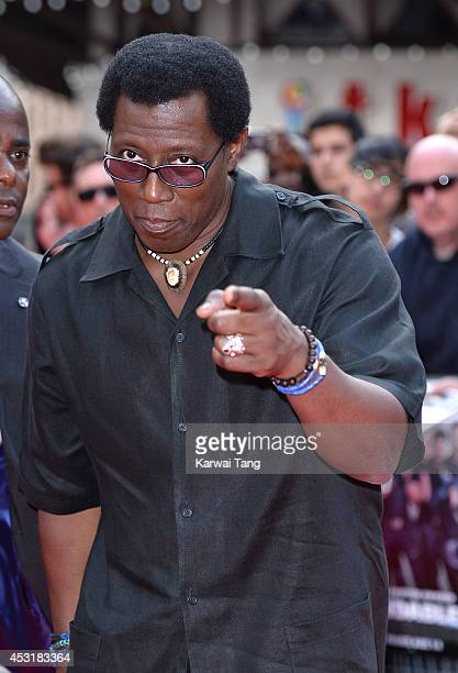 Wesley Snipes attends the World Premiere of 'The Expendables 3' at Odeon Leicester Square on August 4 2014 in London England