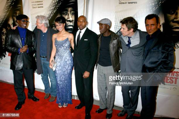 Wesley Snipes Richard Gere Shannon Kane Antoine Fuqua Don Cheadle Ethan Hawke and Wass Stevens attend FOR OVERTURE FILMS' Premiere Of BROOKLYN'S...