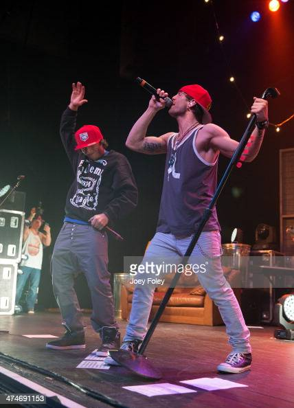 Wesley Stromberg and Drew Chadwick of Emblem3 perform live onstage at Bankers Life Fieldhouse on February 15 2014 in Indianapolis Indiana