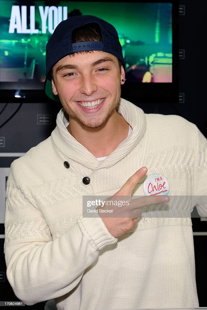 Wesley Stromberg of Emblem3 appears at the Live Nation merchandise booth at Licensing Expo 2013 at the Mandalay Bay Convention Center on June 18, 2013 in Las Vegas, Nevada.