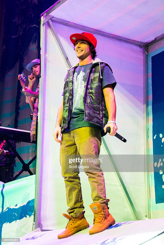 Wesley Stromberg of Emblem3 performs in concert during her Stars Dance Tour at The Palace of Auburn Hills on November 26, 2013 in Auburn Hills, Michigan.