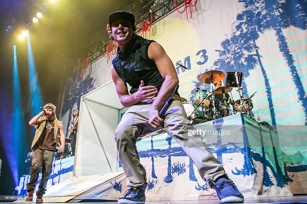 Wesley Stromberg of Emblem3 performs live at Key Arena on November 12, 2013 in Seattle, Washington.