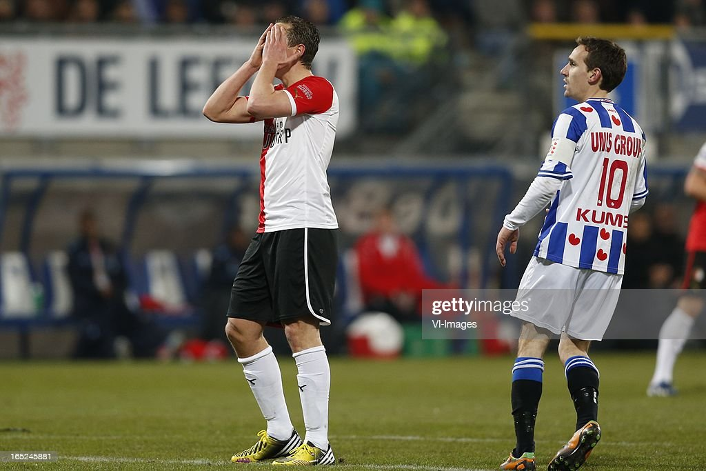 Wesley Verhoek of Feyenoord during the Dutch Eredivisie match between SC Heerenveen and Feyenoord at the Abe Lenstra Stadium on march 30, 2013 in Heerenveen, The Netherlands