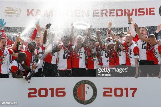 Wessel Dammers of Feyenoord Marko Vejinovic of Feyenoord Eljero Elia of Feyenoord Jerzy Dudek Terence Kongolo of Feyenoord Bart Nieuwkoop of...