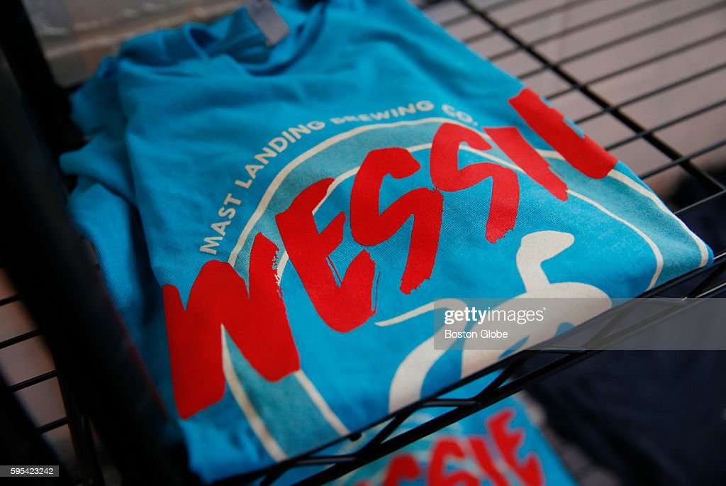 Wessie Tshirts were on display at the Mast Landing Brewing Co in Westbrook Maine Aug 24 2016 A special Wessie beer that was made in honor of the...