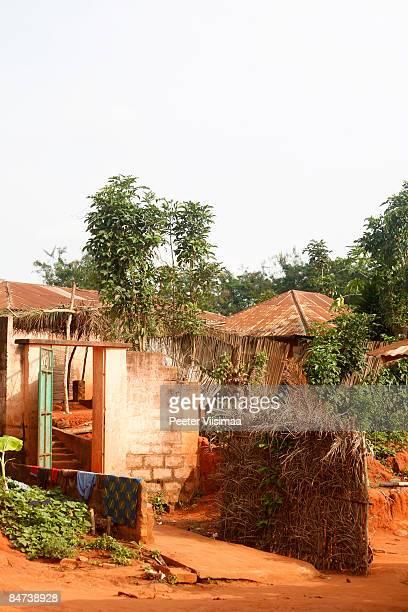 west african village. near Ouidah, Benin.