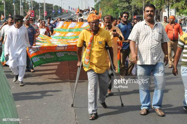 West Bengal Bharatiya Janta Party President Dilip Ghosh leadership a protest rally anti Trinamool Congress Government and Dimand immidetly arrest to...