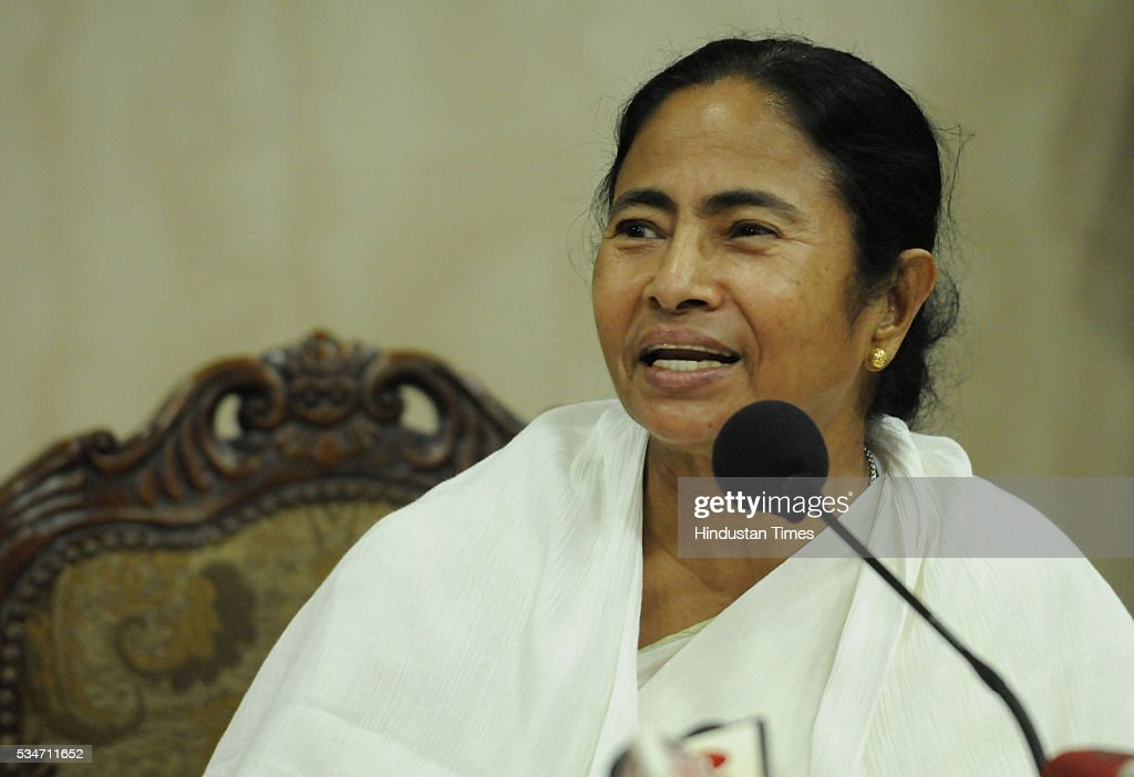 West Bengal Chief Minister Mamata Banerjee address her first press conference at Nabanna, Howrah on May 27, 2016 in Kolkata, India. Mamata Banerjee was sworn in on West Bengal's chief minister for a second term alongwith 41 ministers. The presence of prominent Non-BJP Non-Congress party leaders like Arvind Kejriwal, Nitish Kumar, Lalu Yadav, Akhilesh Yadav gave air to formation of major Anti-Modi block in 2019.