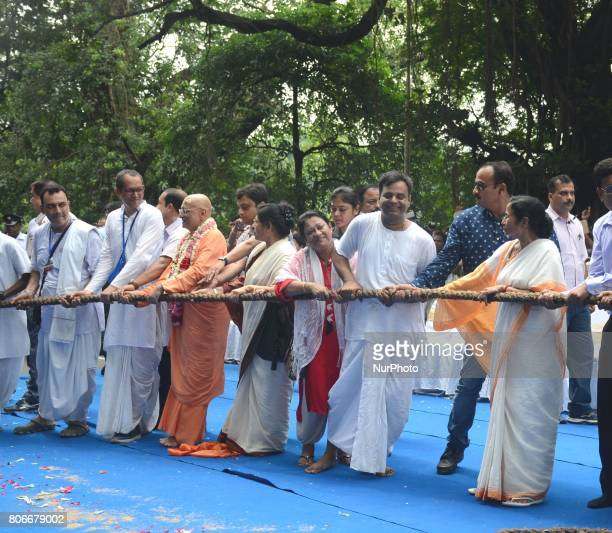 West Bengal Chief Minister Mamata Banerjee participated in the Ratha Yatra festival on the last day of week long Ratha Yatra festival or chariot...