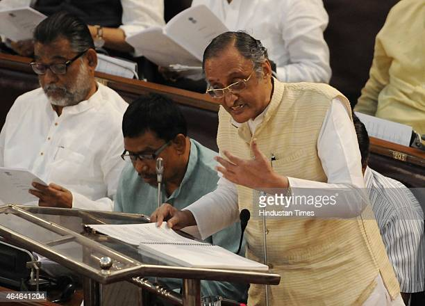 West Bengal State Finance Minister Amit Mitra is presenting Budget for 2015 at Assembly on February 27 2015 in Kolkata India The revised tax...