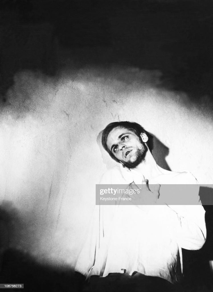 West Berlin. Hebbel Theater. Klaus Kinski In The Idiot Of Fiodior Doistoievski. August 1952.