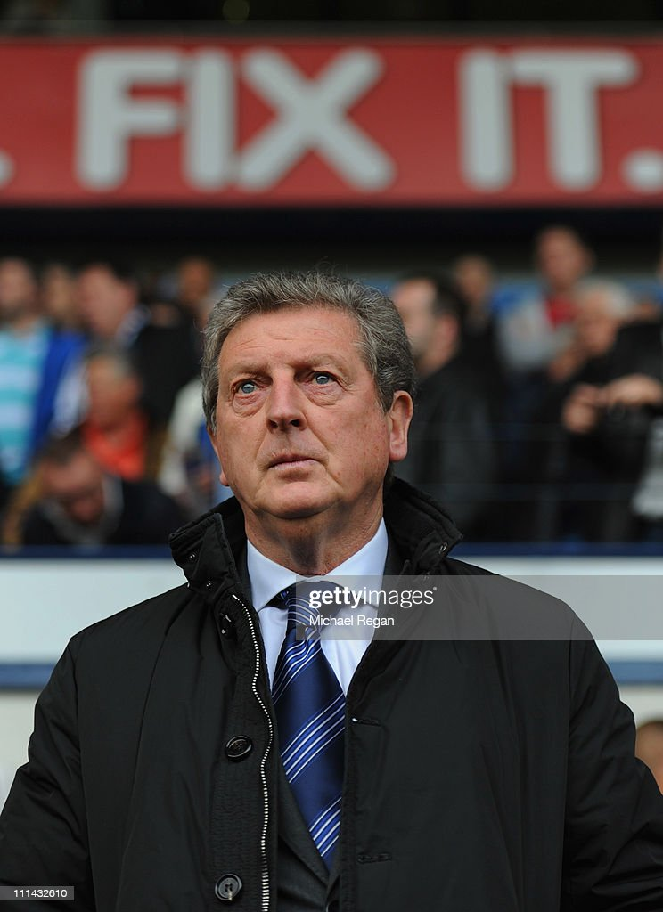 West Brom manager Roy Hodgson looks on before the Barclays Premier League match between West Bromwich Albion and Liverpool at The Hawthorns on April 2, 2011 in West Bromwich, England.