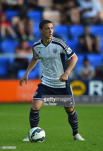 West Brom player Chris Baird in action during a pre season friendly between Shrewsbury Town and West Bromwich Albion at Greenhous Meadow on July 15...