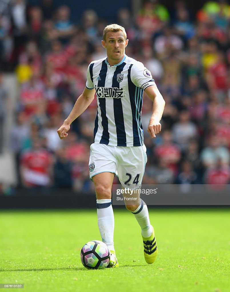 West Brom player Darren Fletcher in action during the Premier League match between West Bromwich Albion and Middlesbrough at The Hawthorns on August 28, 2016 in West Bromwich, England.