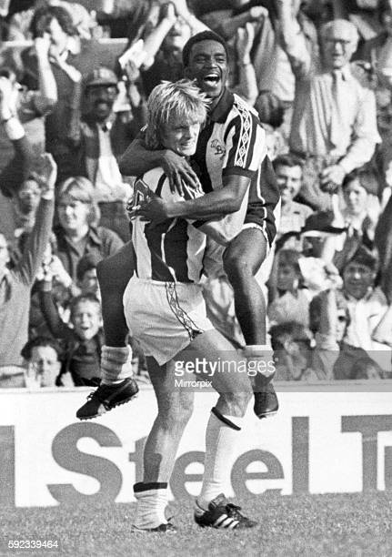 West Bromwich Albion 11 Liverpoo West Brom's Lee Cantello hoists team mate Laurie Cunningham after the goal ensured Albion picked up a point against...