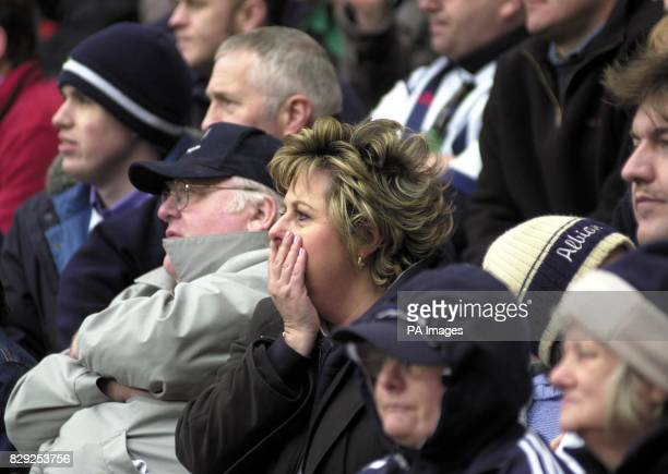 West Bromwich Albion fans watch as their side win 21 at Sunderland only to find themselves relegated in the Barclaycard Premiership match at the...