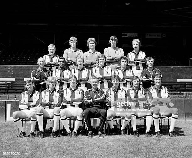 West Bromwich Albion football team at the Hawthorns in West Bromwich 15th July 1977 Back row Derek Statham Bob Ward Tony Godden John Osborne Trevor...