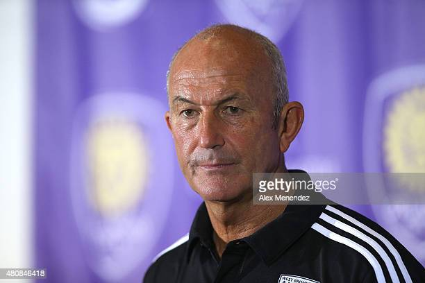 West Bromwich Albion head coach Tony Pulis speaks with the media after an International friendly soccer match between West Bromwich Albion and the...