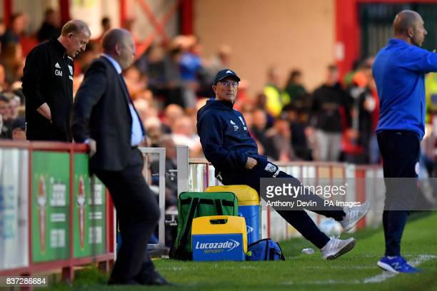 West Bromwich Albion manager Tony Pulis during the Carabao Cup Second Round match at the Wham Stadium Accrington