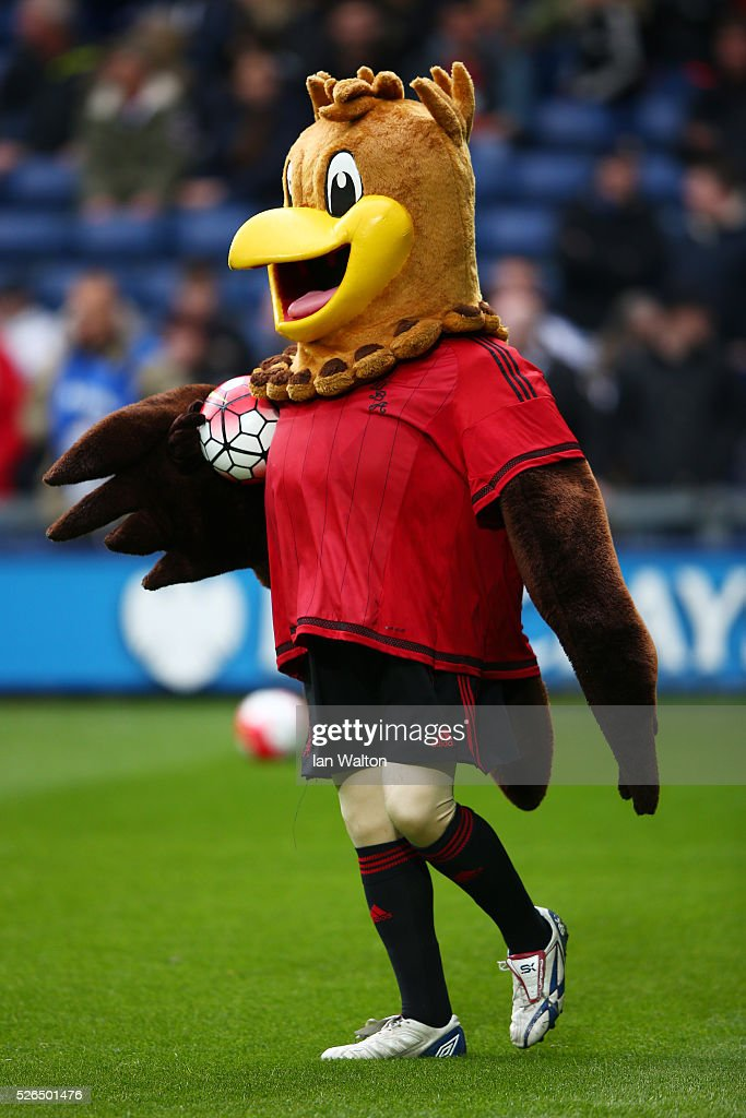 West Bromwich Albion mascot Albi is seen prior to the Barclays Premier League match between West Bromwich Albion and West Ham United at The Hawthorns on April 30, 2016 in West Bromwich, England.
