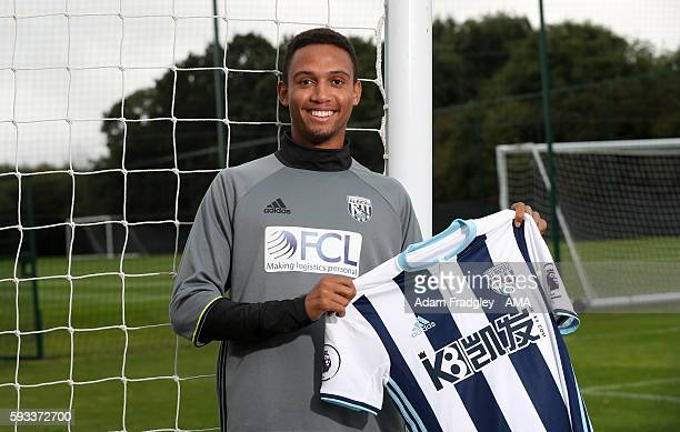 West Bromwich Albion new loan singing Brendan Galloway signs from Everton on August 22 2016 in West Bromwich England