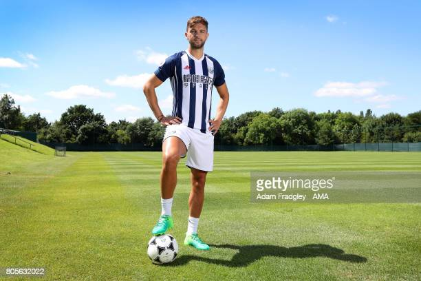 West Bromwich Albion unveil new signing Jay Rodriguez on July 2 2017 in West Bromwich England