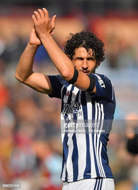 West Bromwich Albion's Ahmed Hegazy after the Premier League match at Turf Moor Burnley