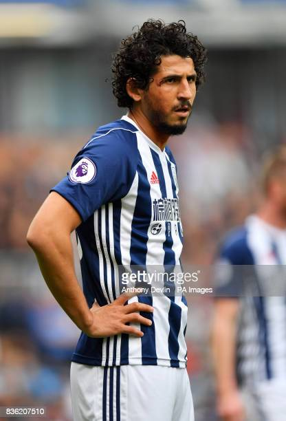 West Bromwich Albion's Ahmed Hegazy during the Premier League match at Turf Moor Burnley
