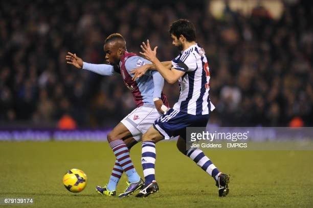 West Bromwich Albion's Claudio Yacob and Aston Villa's Yacouba Sylla battle for the ball