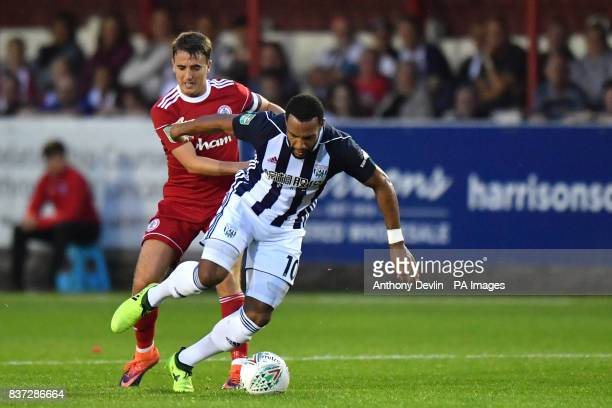West Bromwich Albion's Matty Phillips in action during the Carabao Cup Second Round match at the Wham Stadium Accrington