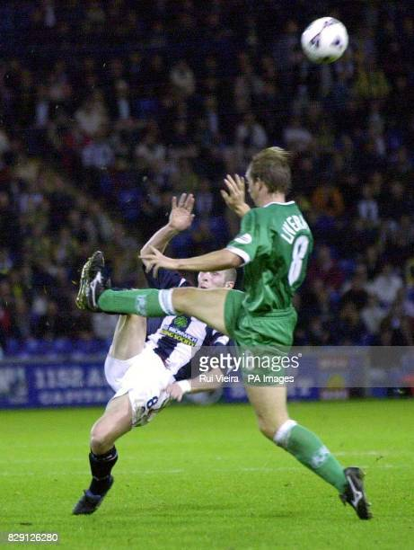 West Bromwich Albion's Michael Appleton in action against Millwall's David Livermore during the Nationwide Division One game between West Bromwich...