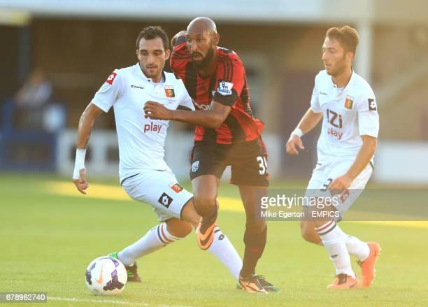 West Bromwich Albion's Nicolas Anelka and Genoa's Bertolacci Andrea and Lodi Francesco