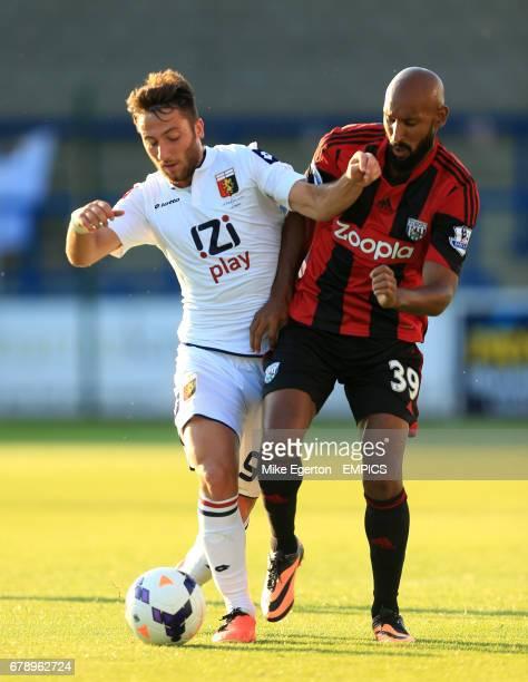 West Bromwich Albion's Nicolas Anelka and Genoa's Bertolacci Andrea