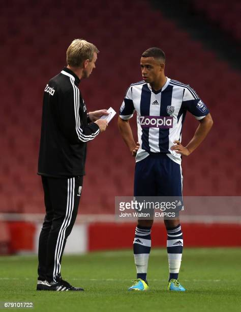 West Bromwich Albion's Senior Professional Development Coach David Oldfield and Wesley Atkinson