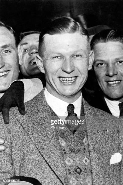 West Bromwich Albion's WG Richardson who scored both of his team's goals in their 20 Cup Final victory is congratulated by fans after the match