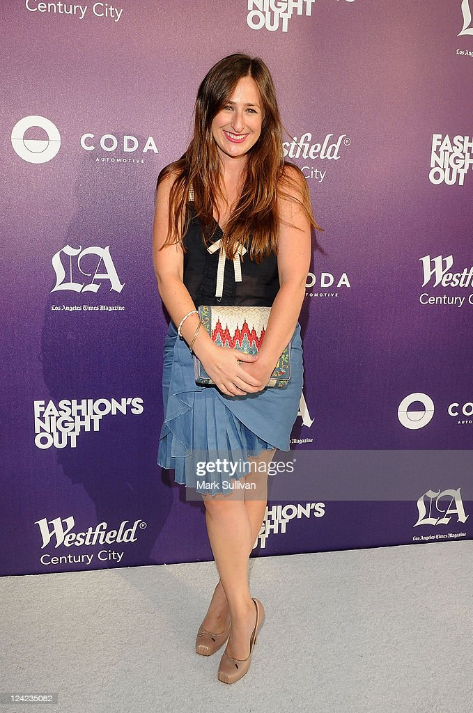 West Coast Editor, Glamour magazine Jen Weinberg arrives for Fashion's Night Out at Westfield Century City on September 8, 2011 in Los Angeles, California.