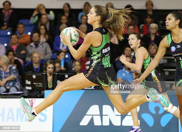 West Coast Fever wing defence Shae Bolton flies down the court during the round 13 ANZ Championships match between the Mystics and the Fever at The...