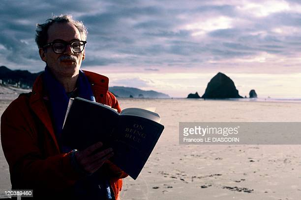 West Coast In Route 101 In Oregon United States In 1997 Route 101 called also in some parts Route 1Cannon Beach a writer Bob Reilly reads a poetry on...
