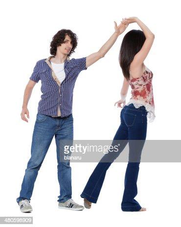 West Coast Swing Dance : Stock Photo