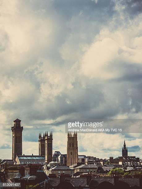 West end Glasgow Scotland skyline