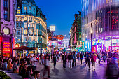 West End, people in Leicester Square
