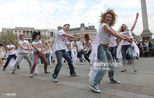 West End Stars hold a flashmob in support of the nonprofit organistation Love 146 which campaigns to end child sex slavery and exploitation at...