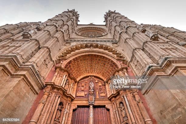 West Facade of La Seu Cathedral, Palma de Mallorca, Majorca, Balearic Islands, Spain