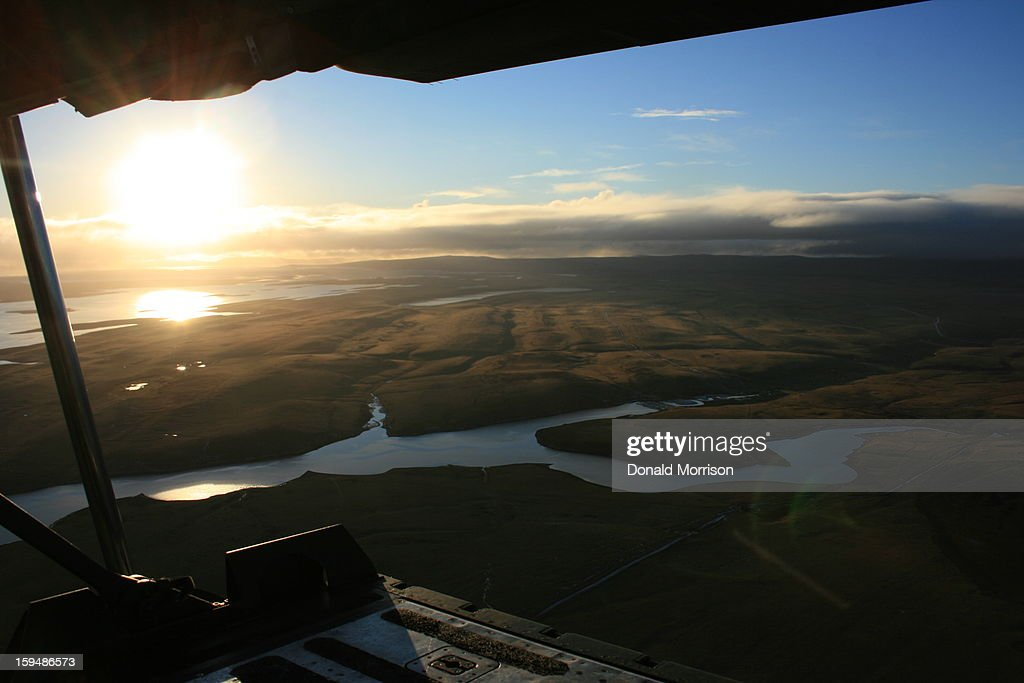 CONTENT] West Falklands from the ramp of a Hercules C130